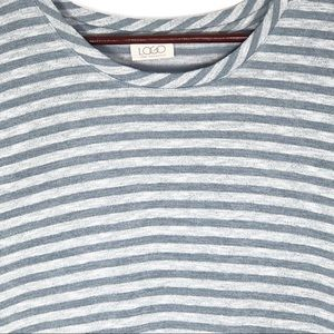 LOGO by Lori Goldstein Tops - LOGO By Lori Goldstein Striped Tunic w Pockets